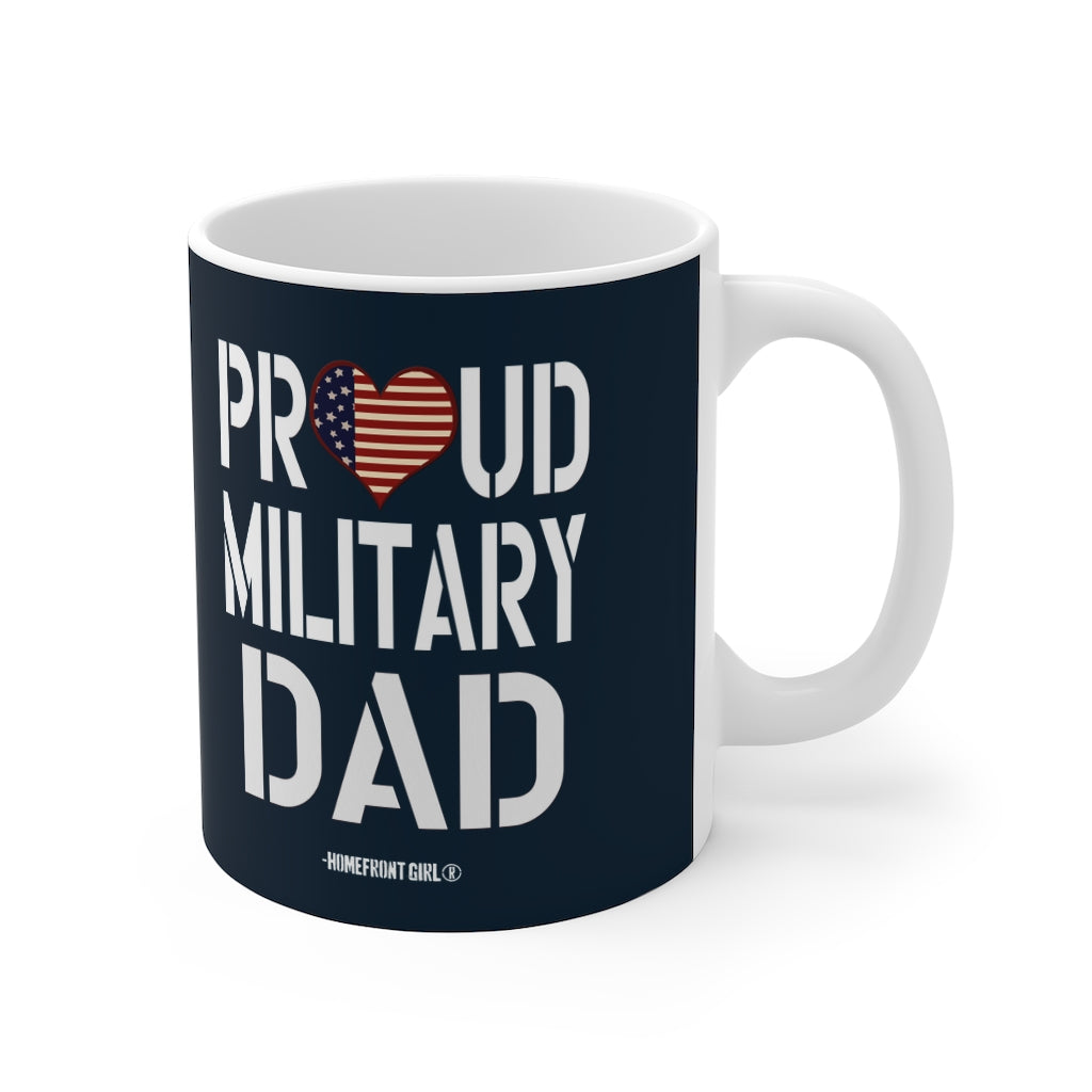 """Proud Military DAD"" Blue Mug 11oz - [shop_home]"