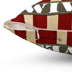 Military Wives -If You think Soldier's are tough you should meet their Wives- Spun Polyester Square Pillow - [shop_home]