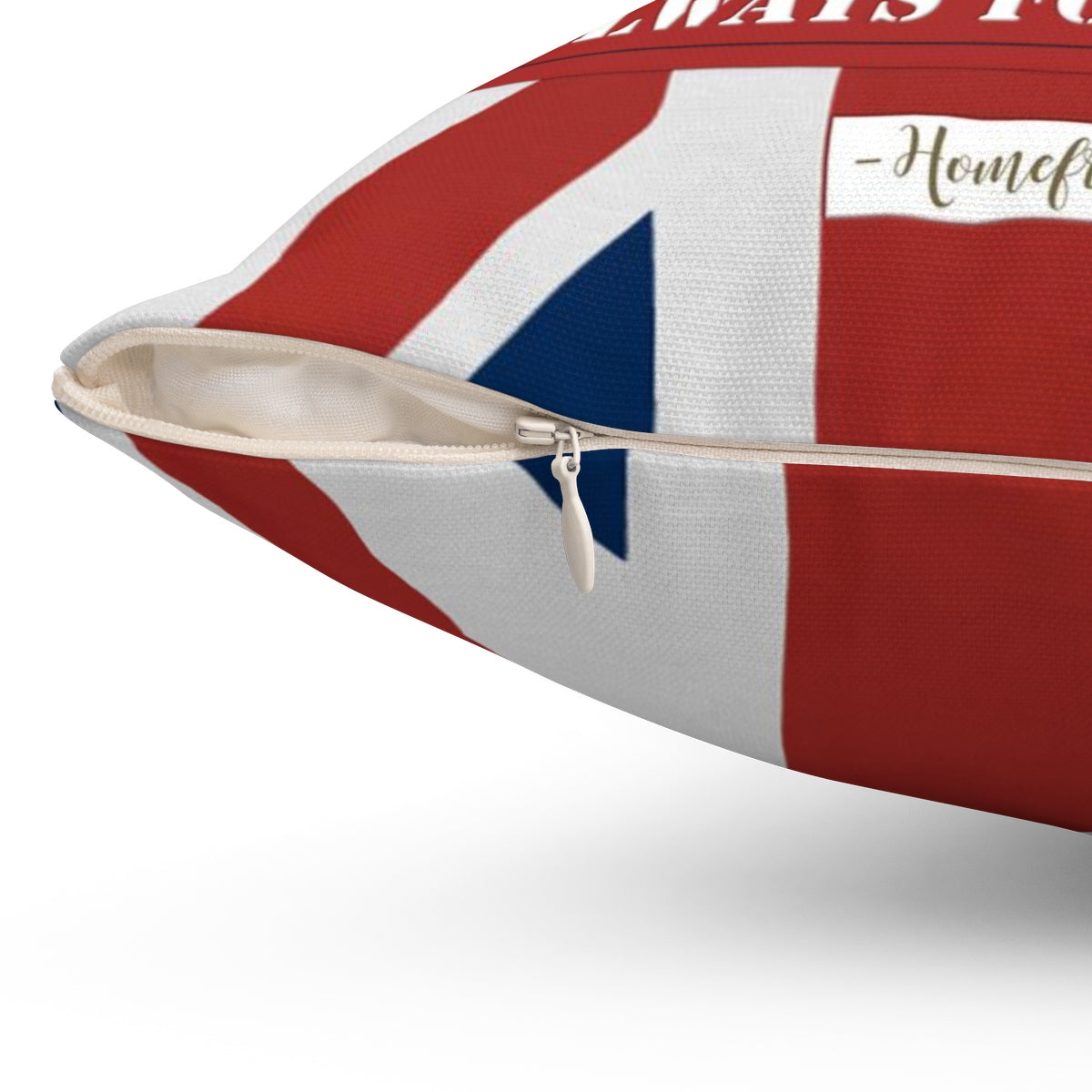 "British Military The Union Jack ""Never for Glory. Always for Country."" - Spun Polyester Square Pillow - [shop_home]"