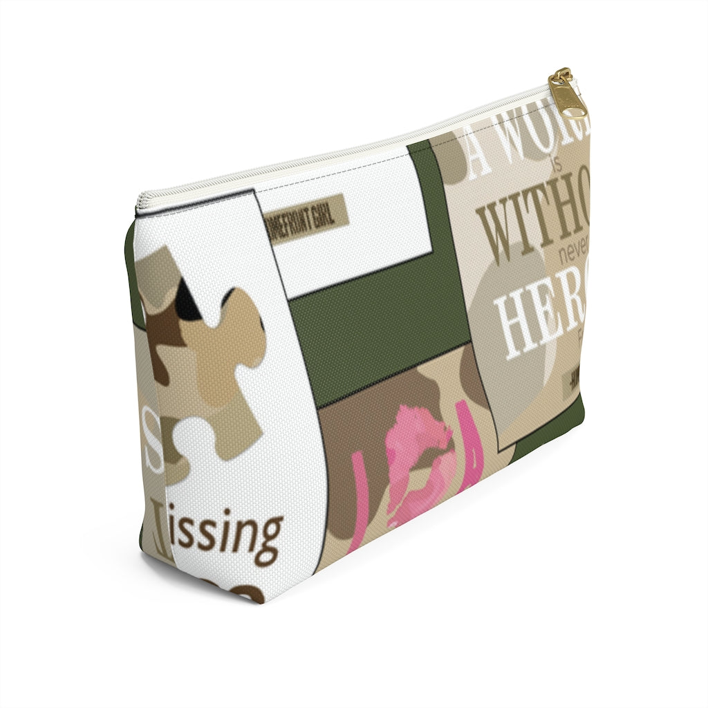 Homefront Girl® Signature Design -Accessory Pouch w T-bottom - [shop_home]