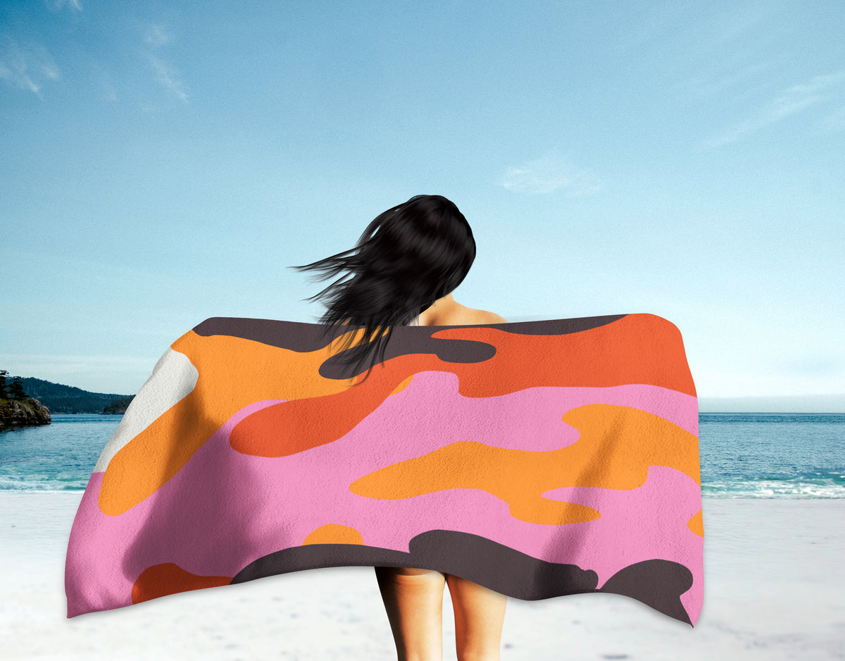 The Homefront Girl® Bimini Camo-Beach Towel