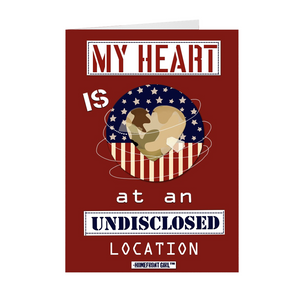 "The Homefront Girl® Deployment Card Collection ""My Heart is at an Undisclosed Location"" Boxed Cards - [shop_home]"