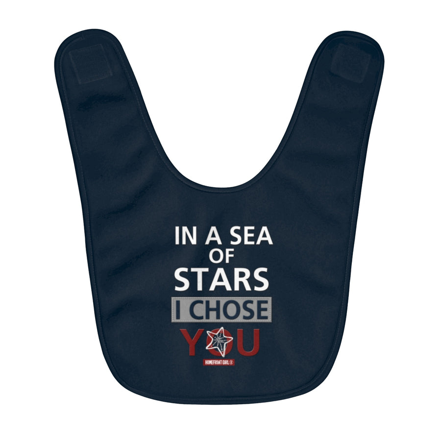 Homefront Baby®  A Sailors Baby - Fleece Baby Bib