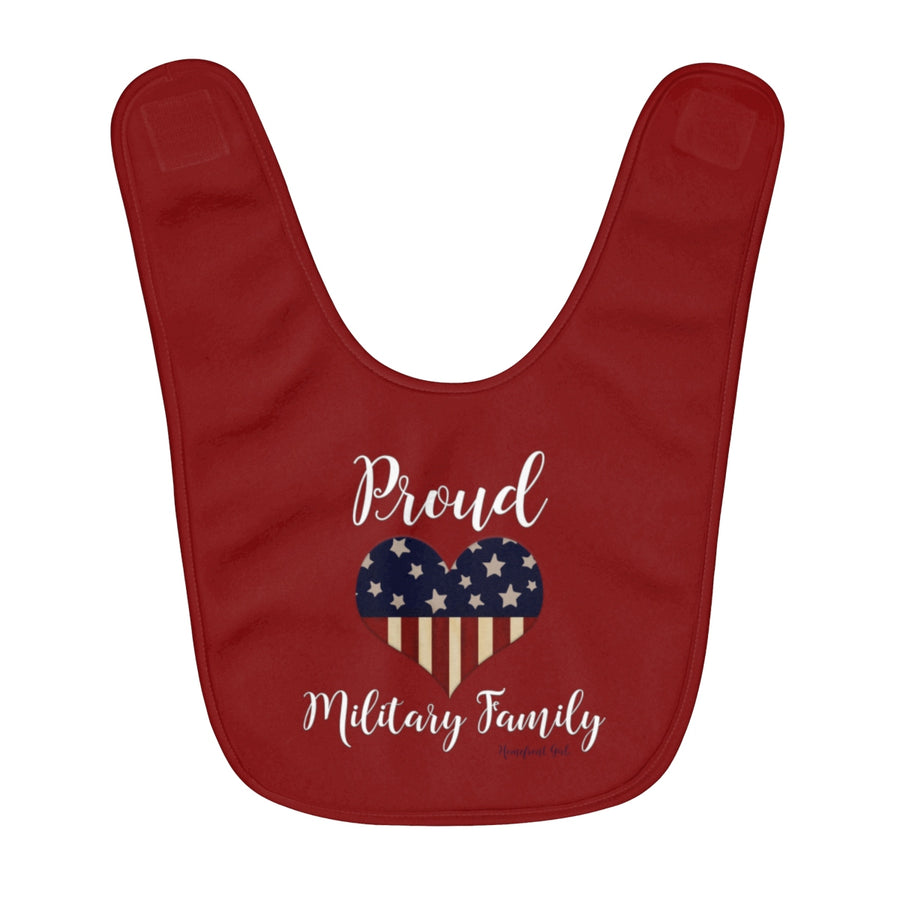 Homefront Baby® Proud Military Family Fleece Baby Bib