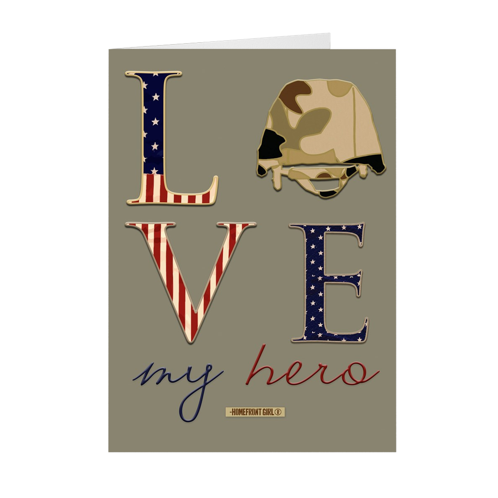 "The Homefront Girl® Deployment Card Collection "" Love My Hero"""