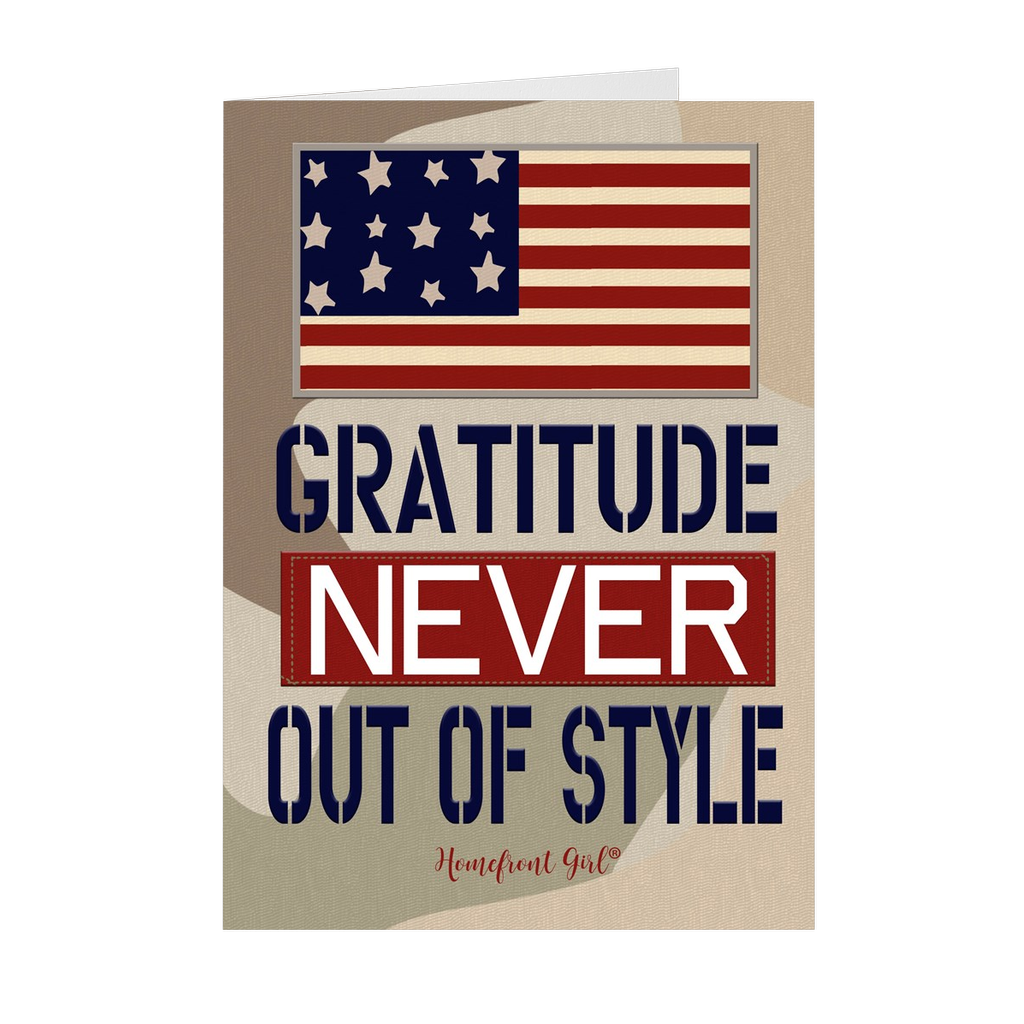 "The Homefront Girl® Deployment Card Collection ""Gratitude is Never out of Style"" Boxed Cards - [shop_home]"