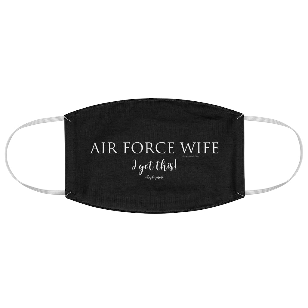 """AIR FORCE WIFE #IGOTTHIS""-  Face Mask - [shop_home]"