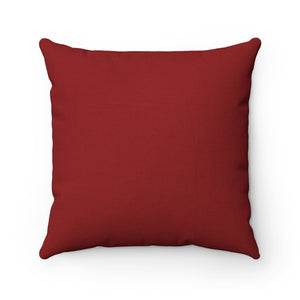 """Christmas is where the BOOTS are"" --Spun Polyester Square Pillow - [shop_home]"