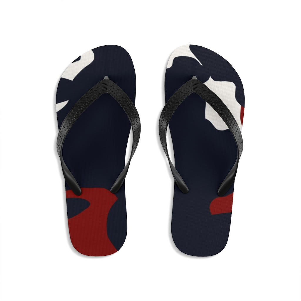 Homefront Girl®. Signature Red, White Blue Camo - Unisex Flip-Flops - [shop_home]