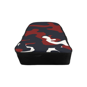 THe Homefront Girl® signature  Red, White and Blue signature Camo - School Backpack
