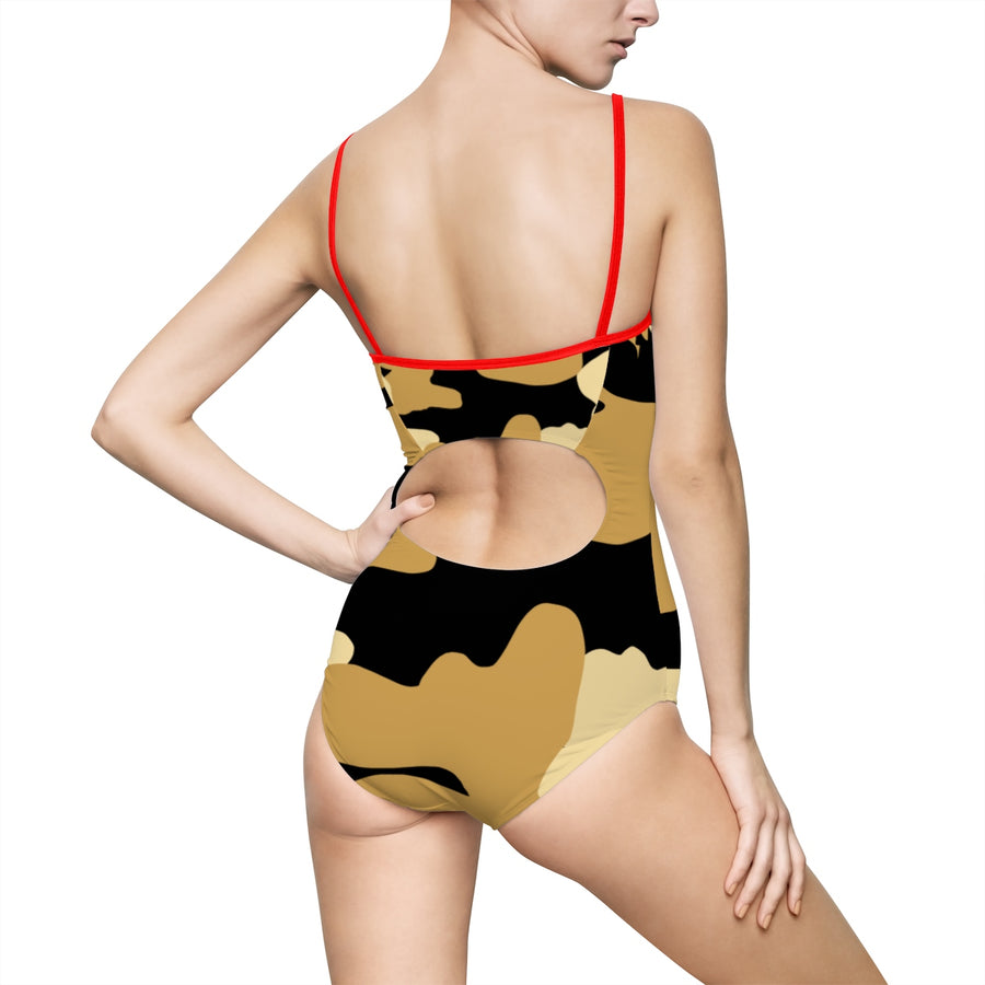 Homefront Girl® Tiger Camo - Women's One-piece Swimsuit