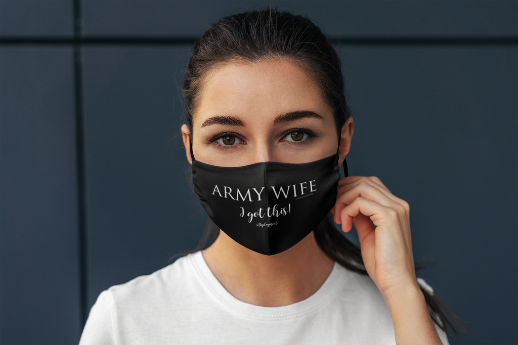 """ARMY WIFE #IGOTTHIS""- Fabric Face Mask - [shop_home]"