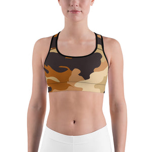 The Homefront Girl® Fitness Collection Espresso -Sports bra