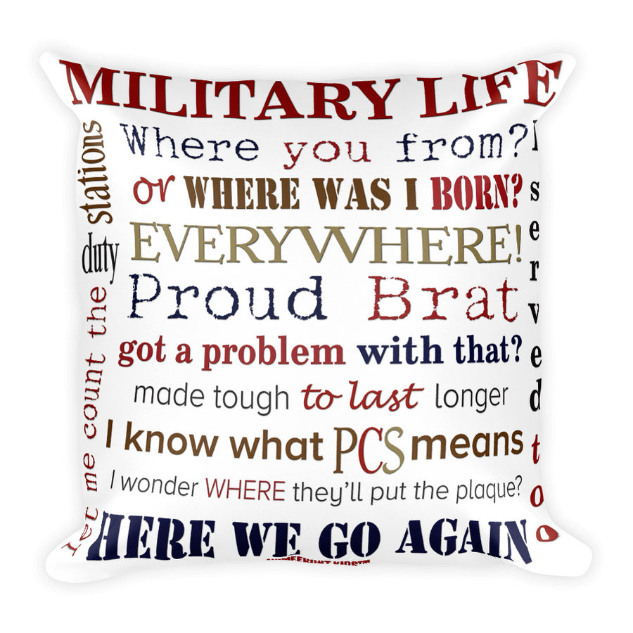 Homefront Kids™ Military Life Pillow