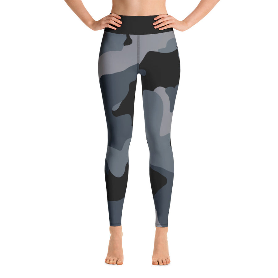 "NEW 2019 ""Power through Gray Camo"" Yoga Leggings"