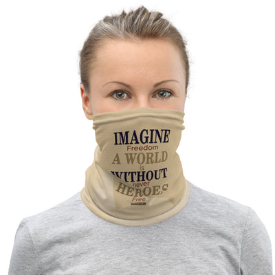 "Homefront Girl® ""Imagine A World without Heroes"" Face mask/Neck Gaiter"