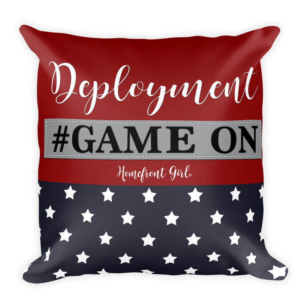 "Deployment  ""Game On"" - Pillow"