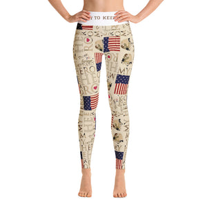 The Homefront Girl® Love My Hero -Yoga Leggings