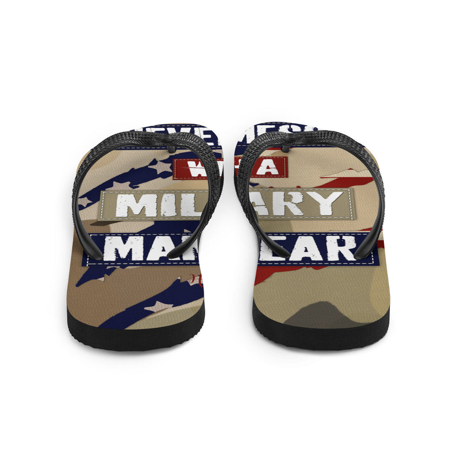 """Never Mess with a Military Mama Bear"" -Flip-Flops"