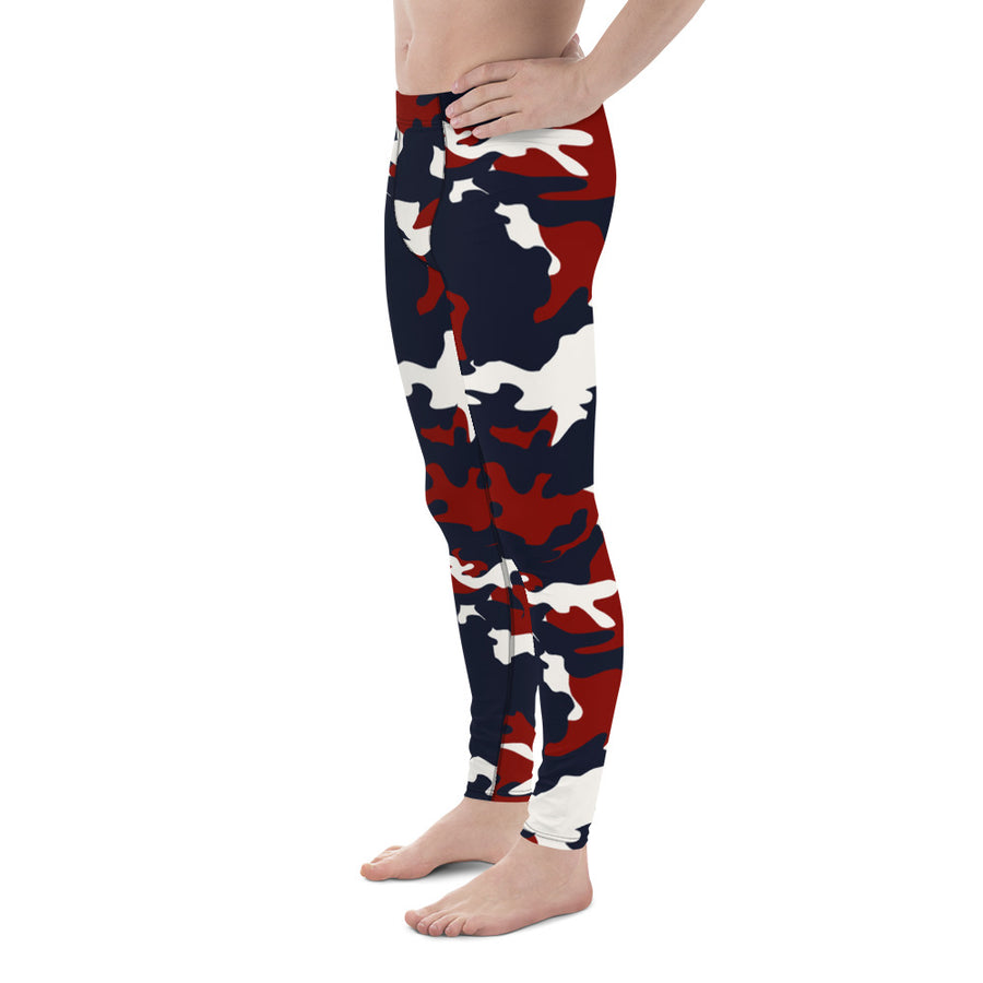 Red White Blue Camo- Men's Leggings
