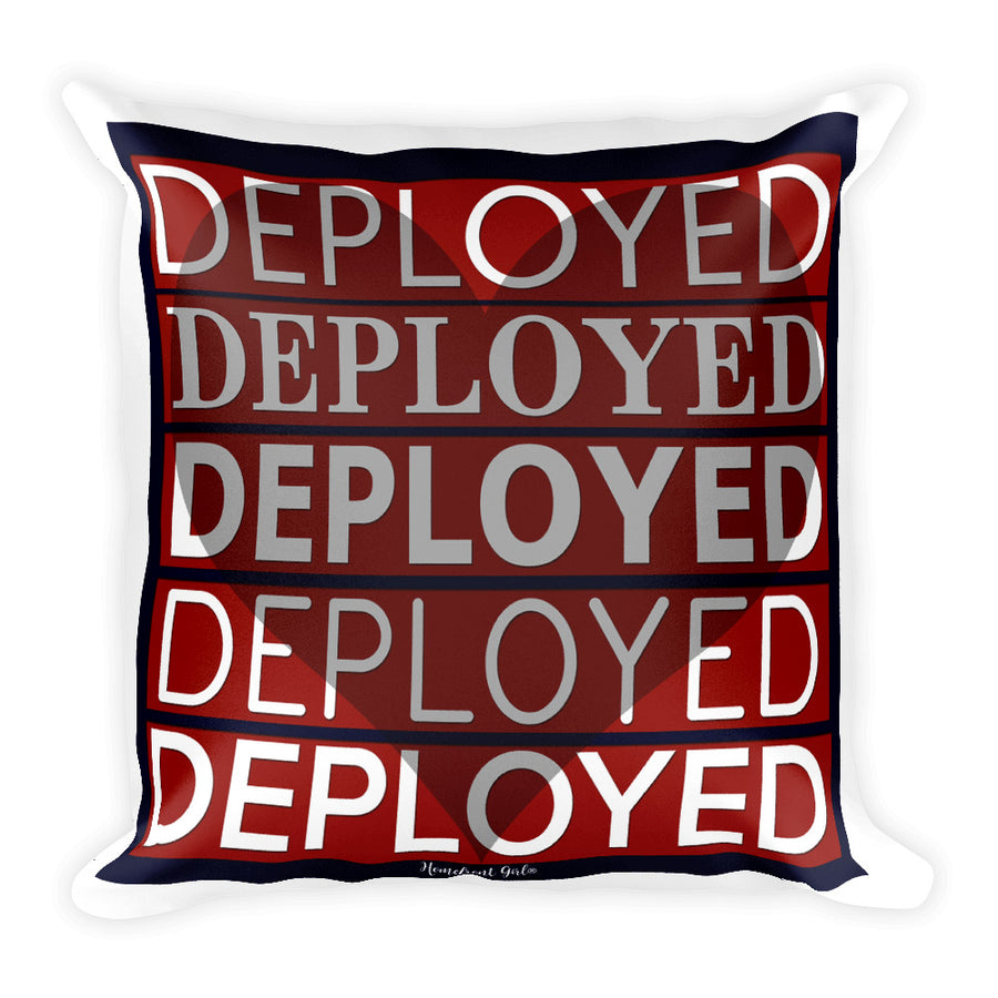"""My Heart is Deployed"" - Square Pillow"