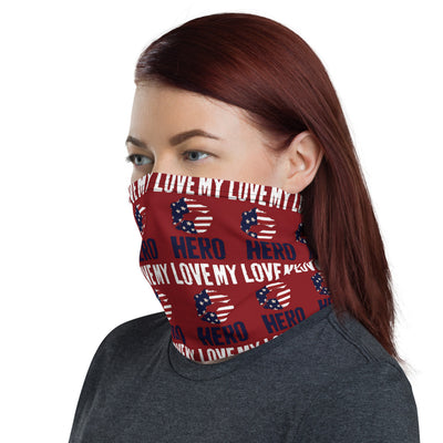 HFG® Love My Hero Red Neck Gaiter