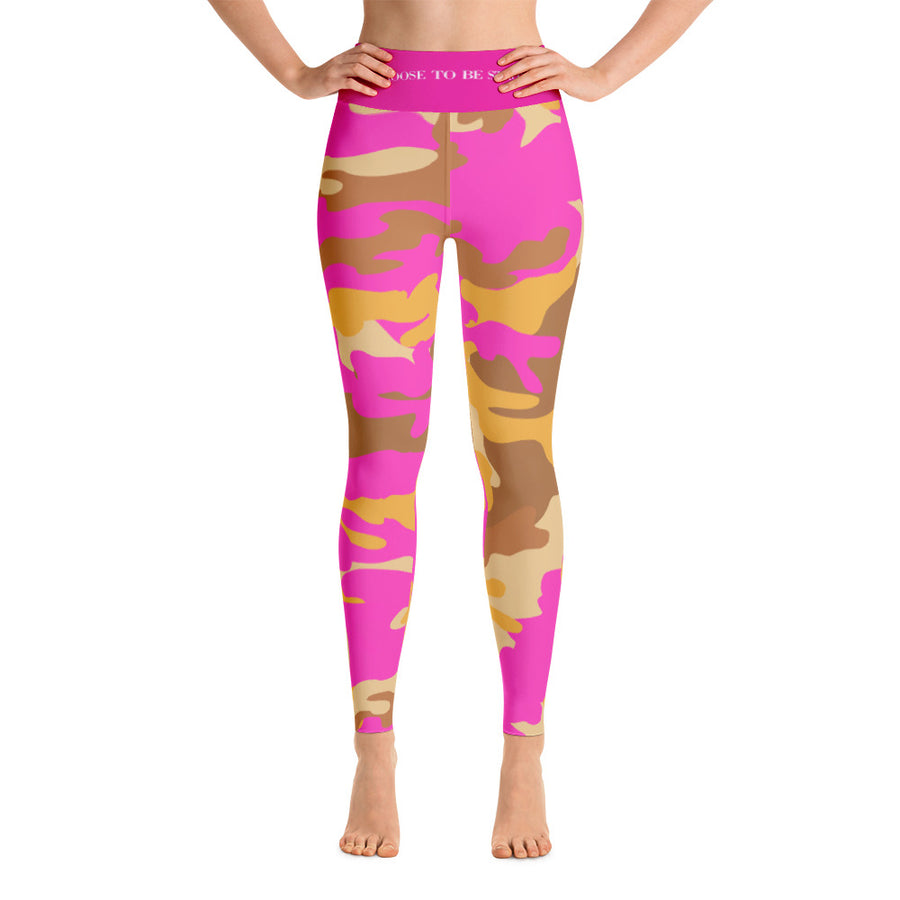 """I Choose to be Strong""  in Homefront Girl® original Got my Mojo Back Camo -Yoga Leggings"