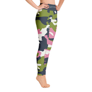 """I Choose to be Strong""  in Homefront Girl® original ""NYC Vibe"" Camo -Yoga Leggings"