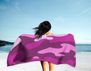 Homefront Girl® Orchid Camo -Beach Towel - [shop_home]