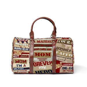 "Not just a MOM but a Military Mom ""Marine Mom"" - Travel Bags"