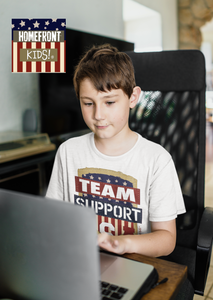 "Homefront Kids™ ""TEAM SUPPORT"" Boys Heavy Cotton™ Tee"