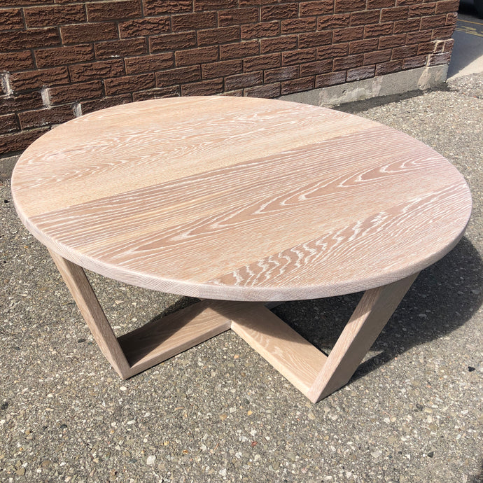 White Oak Round Coffee Table
