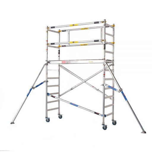 Zippy Folding scaffold 4.9m Working Height with guard rail and 1.0m extension