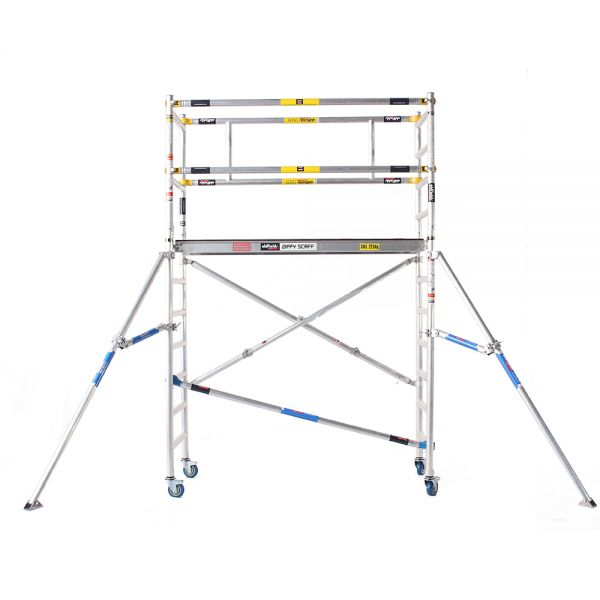 Zippy Folding scaffold with extra guardrail extension 3.9m Working Height