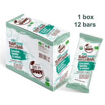 12 Bar Box - Protein Bar Coconut, Vanilla & Lemon