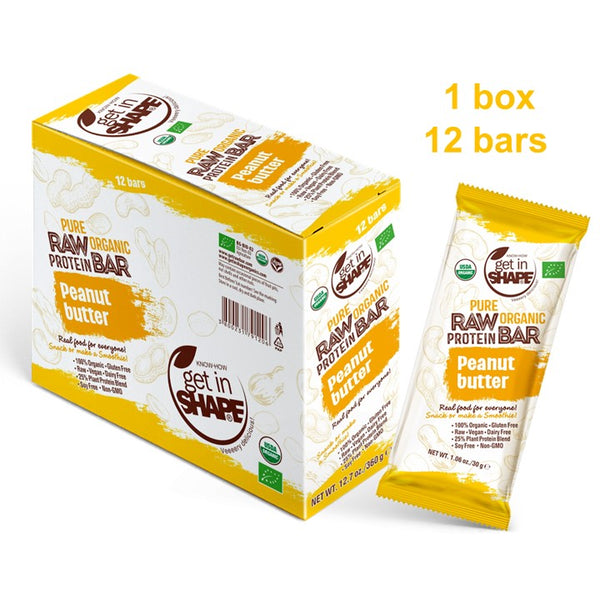 12 Bar Box - Protein Bar Peanut Butter
