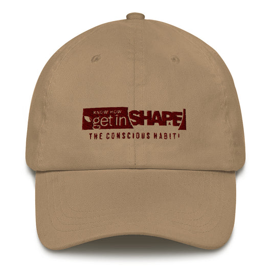 GET IN SHAPE The conscious habit! Dad hat