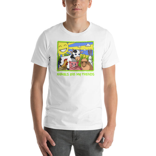 GET IN SHAPE Animals are my Friends Funny Vegan Unisex Shirt
