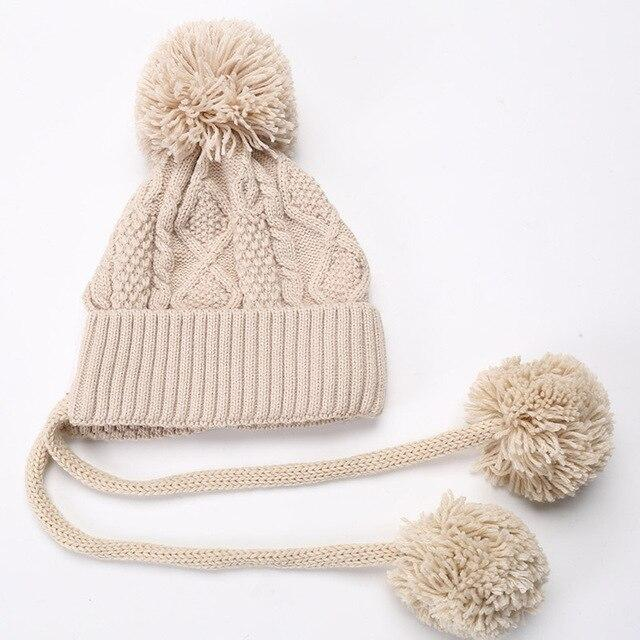 Pompon Warm Wool Hat Beanie
