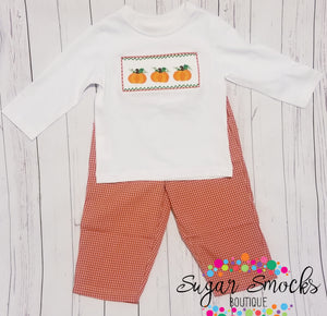 Mom & Me Smocked Pumpkin 2 pc