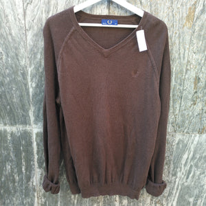 FRED PERRY LINEN SWEATER L