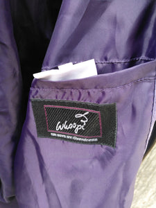 DARK VIOLET KIDS SILK BOMBER