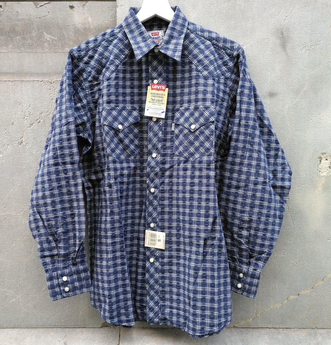 LEVIS WHITE TAB PLAID SHIRT