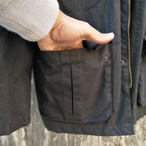 BLACK COAL WAX JACKET L