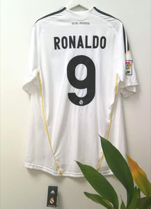 2009/2010 REAL MADRID SIGNED TEE L