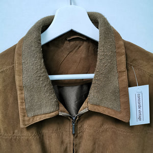 VINTAGE BROWNIE VEGAN LEATHER HARRINGTON L