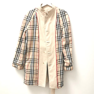 VINTAGE BURBERRY SHORT TRENCH COAT S