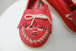 80s APACHE STRAWBERRY NATIVE LOAFERS 37