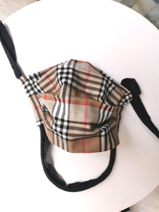 BURBERRY NOVA CHECK REDONE MASK