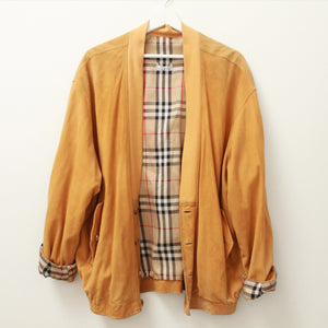 VINTAGE BURBERRY BRAND SUEDE BOMBER L